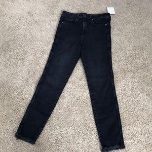 NWT! Free people SZ 28, black ankle skinny jeans